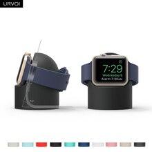 URVOI подставка для apple watch series 5 4 3 2 1 держатель watchOS 5 Подставка для ночного клуба силиконовая домашняя зарядная док-станция для классического дизайна