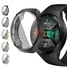 Case for Huawei Watch GT 2e cover soft TPU Full Coverage Frame Smartwatch Accessories Bumper+Screen Protector Huawei Watch GT2E
