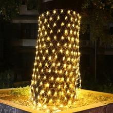 Light Led Net Fairy-Light-Garland Mesh Patio Christmas Tree-Wrap Party Outdoor Garden
