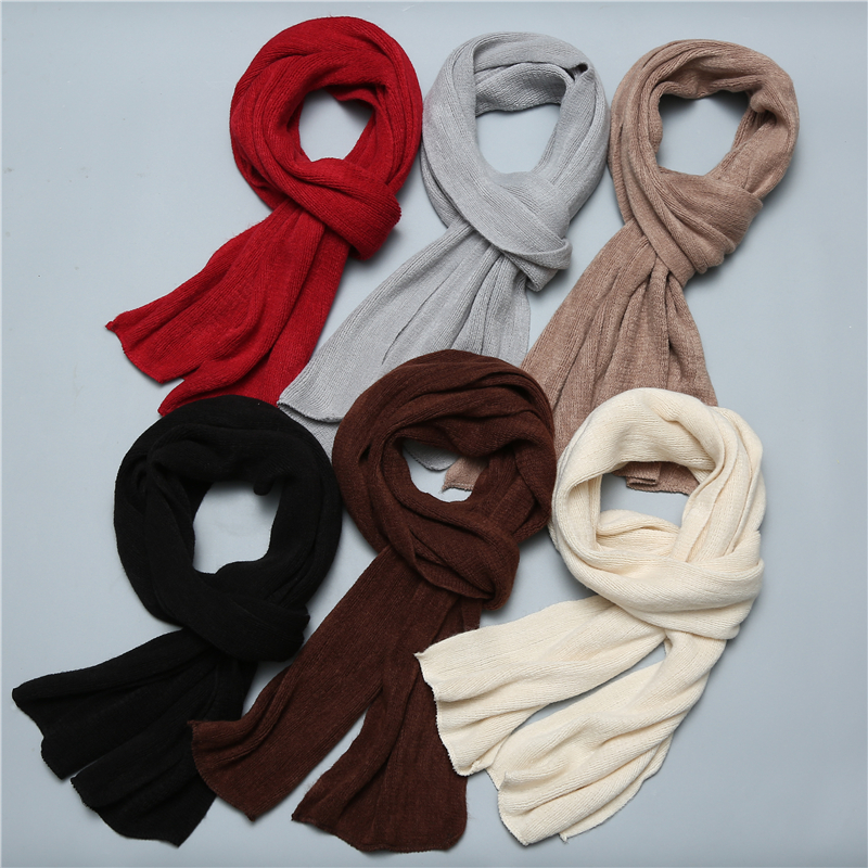 Fashion Knitted Winter Scarf Warm Cashmere Like Women Shawls Long Size Foulard Female Lady Bandana Muffer
