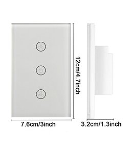 Image 2 - Smart Fan Switch In Wall Speed Control Wifi Enabled Variable Ceiling Touch Glass Panel Remote by Alexa Google Home Assistant