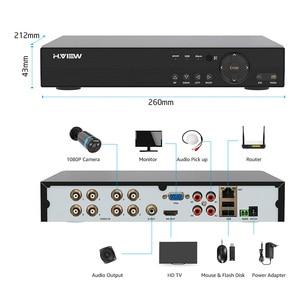 Image 4 - H. Görüş güvenlik kamera sistemi 8ch CCTV sistemi 4 1080P güvenlik kamerası Video gözetim kiti 8ch DVR Video gözetleme açık