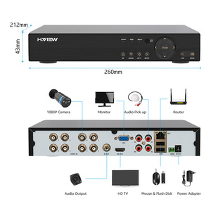 Image 4 - H.VIEW Security Camera System 8ch CCTV System 4 1080P CCTV Camera Video Surveillance Kit 8ch DVR Video Surveillance Outdoor
