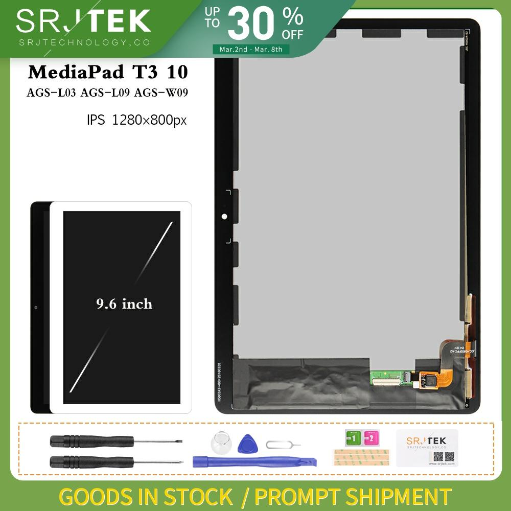 Dla Huawei T3 10 wyświetlacz dla Huawei MediaPad T3 10 AGS-L09 AGS-L03 AGS-W09 matryca wyświetlacza lcd montaż digitizera ekranu dotykowego