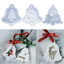 Craft Molds Pendants Jewelry-Making Soft-Silicone-Mould Christmas-Trees Epoxy Resin DIY