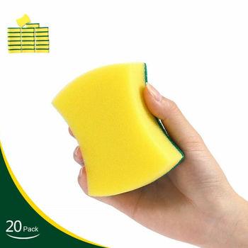 20 sztuk zestaw do mycia naczyń do mycia z wyżywieniem we własnym zakresie Scourer do szorowania gąbka uszczelniająca przyrząd kuchenny gospodarstwa domowego miękka gąbka gąbka do mycia tanie i dobre opinie faroot Ekologiczne CF11185 Kuchnia