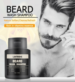 Lanthome Vitamin Wash Shampoo Hair Beard Care Men'S Gift Beard Assistance Machine Moisturiser Deep Cleansing Beard Beard Shampoo 5