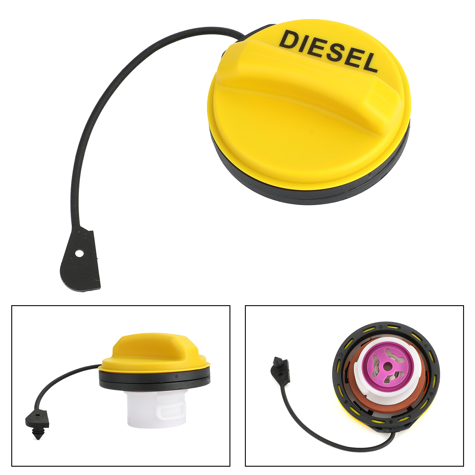 Areyourshop Fuel Cap Fits For Land Rover Discovery 3 LR3/4 LR4/5 LR053666 Car Exterior Accessories Parts