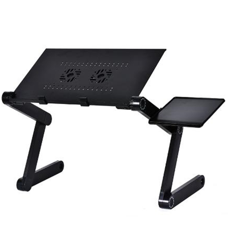Aluminum Adjustable  Laptop Desk Ergonomic Portable TV Bed Lapdesk Tray PC Table Stand Notebook Table Desk Stand With Mouse Pad