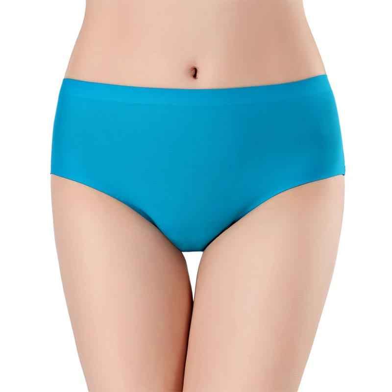 جديد النساء ملخصات سلس لينة منتصف الارتفاع الملابس الداخلية الإناث مثير سراويل XS-L الاتحاد الأوروبي حجم الملابس الداخلية العشير بلون الجليد الحرير