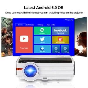 Image 2 - Caiwei A9/A9AB 스마트 안드로이드 와이파이 LCD LED 1080p 프로젝터 홈 시네마 풀 HD 비디오 모바일 비머 스마트 폰 TV 미라 캐스트 Airplay