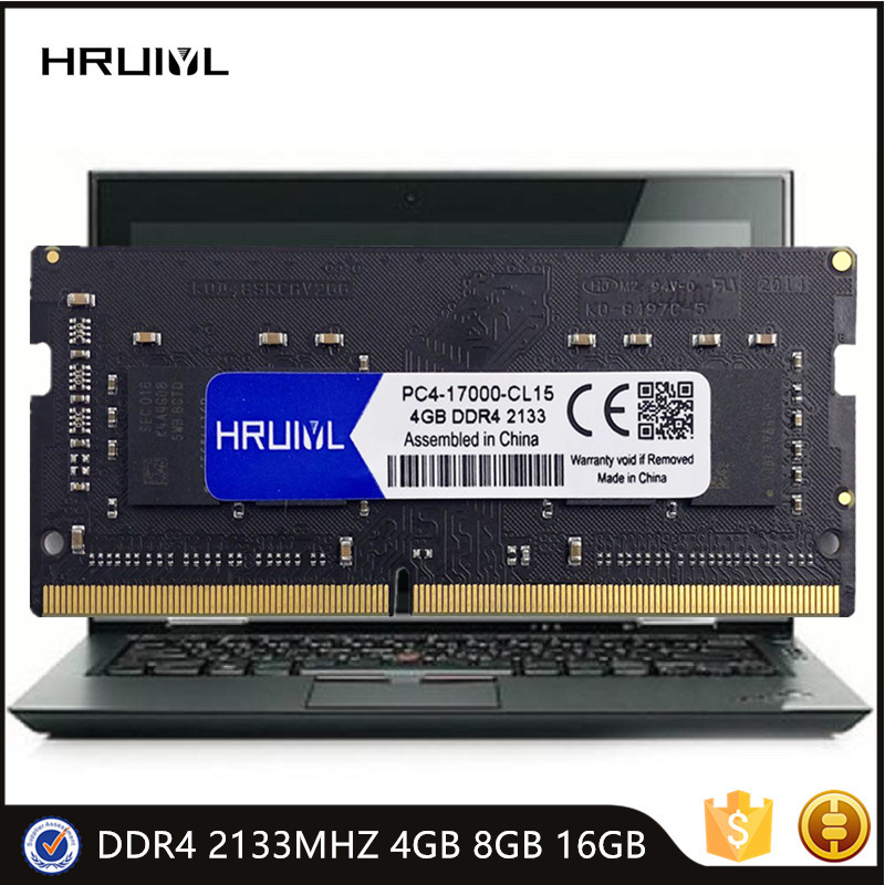 HRUIYL DDR4 SODIMM 2133MHz 8G 16G 4GB Laptop Memory RAM PC4 17000S 1.2V DRAM 260 Pin Intel Game Notebook Memoria Sticks New