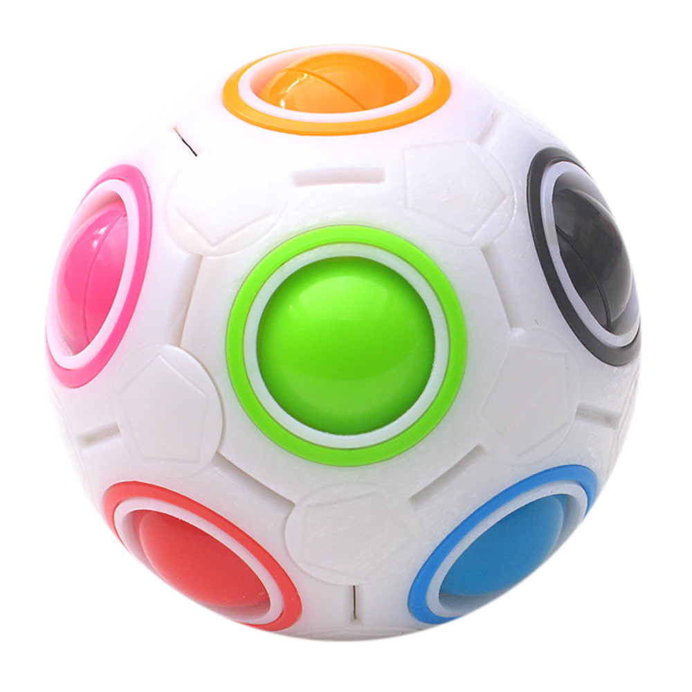Luminous Stress Reliever Magic Rainbow Ball Fun Cube Fidget Puzzle Education Toy For Kids/Adults gift imagination Toys