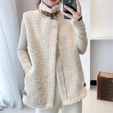 Женский кашемировый жилет большого размера модные корейские