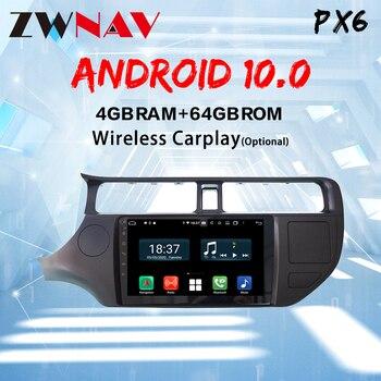 IPS px6 Android 10 автомобильное радио для Kia RIO K3 2012 014 стерео Мультимедиа Видео плеер GPS Навигация BT HU FM Wifi камера
