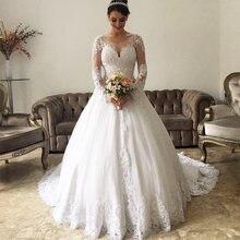 Vestido de boda Свадебные платья с глубоким вырезом и длинными