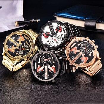 цена Sports Watches Luxury Brand Men Analog Digital Leather Sports Watches Men's Army Military Watch Man Quartz Clock Relogio онлайн в 2017 году