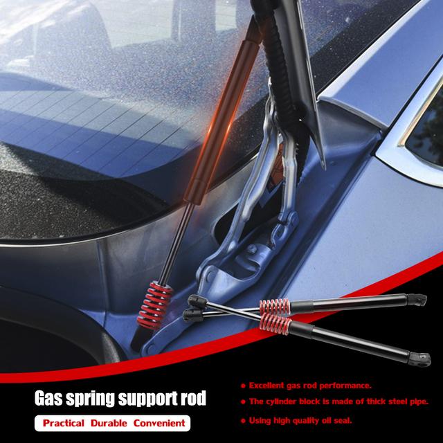 2PCS for Tesla Model 3  Lift Supports Rear Trunk Struts Gas Springs Shocks Fit Stainless Steel Hydraulic Rod Car Accessories