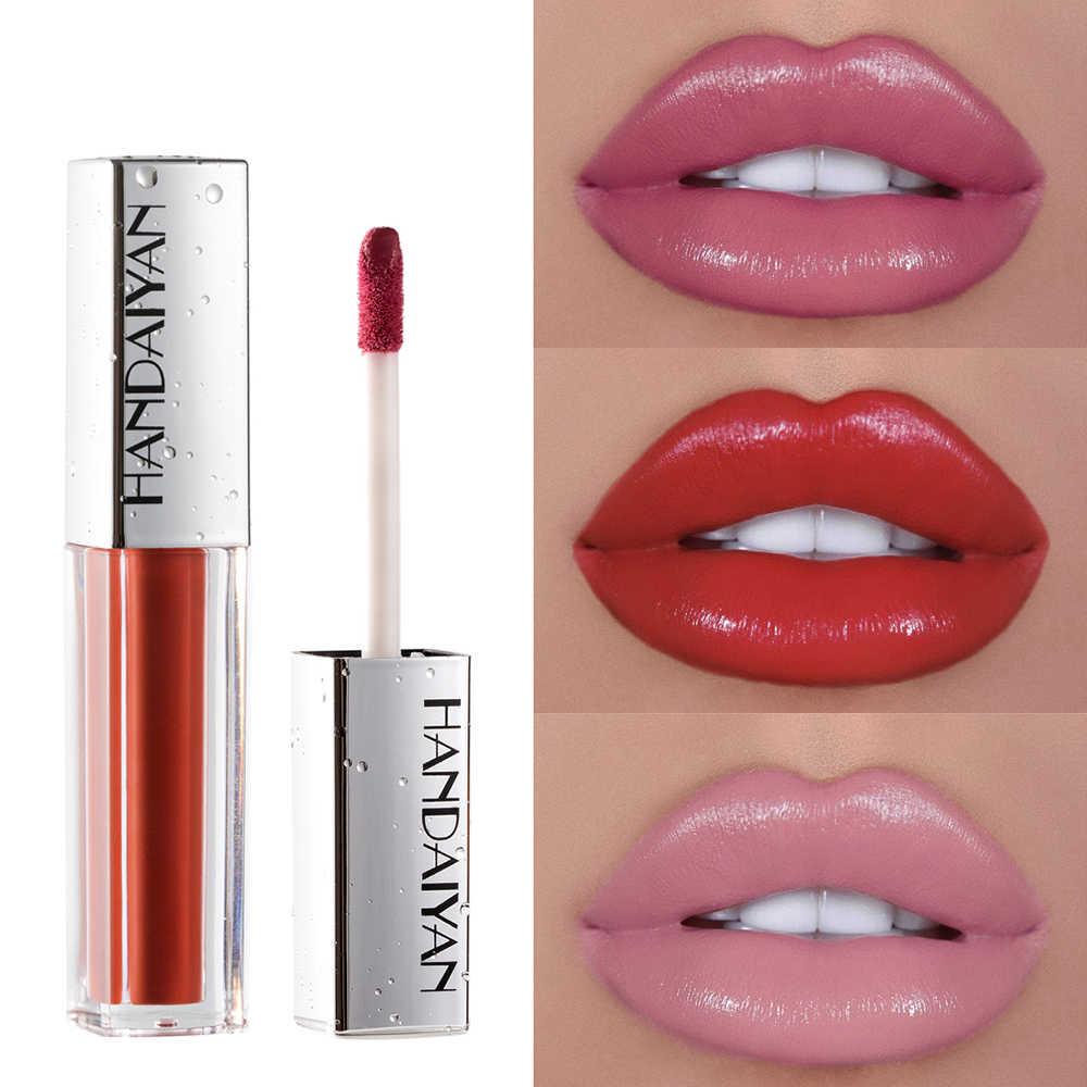 Nemlendirici seksi çıplak pembe ruj su geçirmez uzun kalıcı dudak parlatıcısı canlı renkli Lipgloss mat hacmi dudak makyaj kozmetik