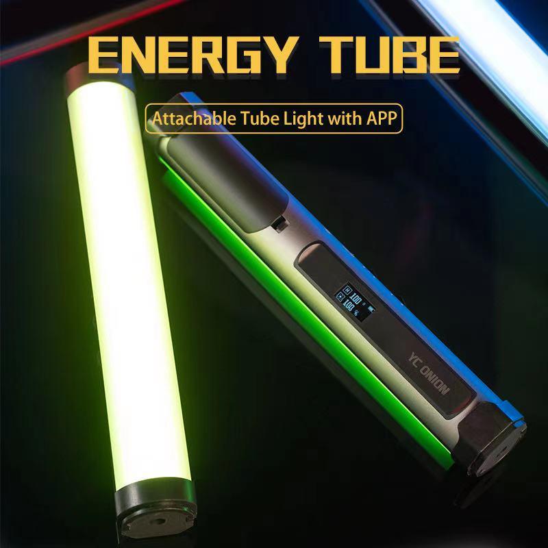 YC Onion-tubo de luz Led RGB para estudio, luz de vídeo RGB a todo Color con Control por aplicación, temperatura ajustable de 0 a 360 grados, 3200k-6200k