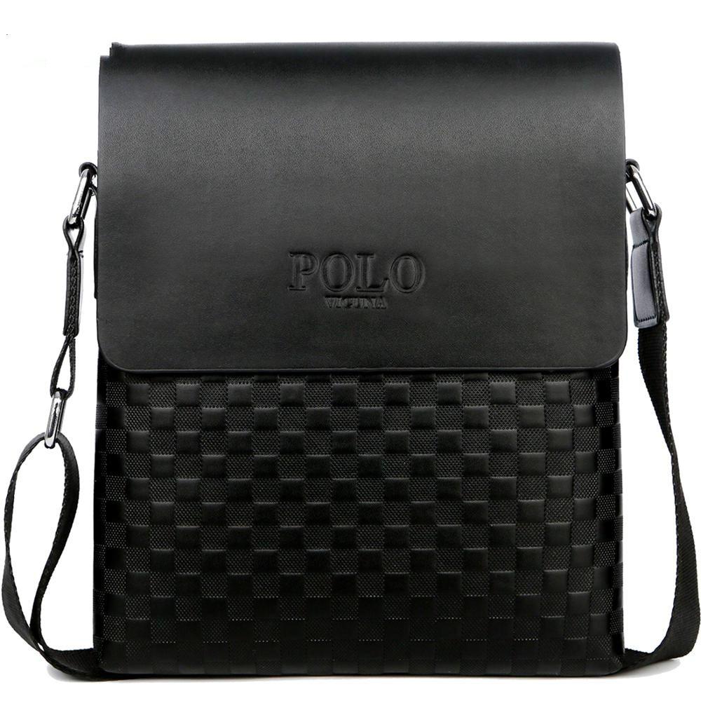 Classic Plaid Design Business Men's Bag Retro Brand Men's Handbag Casual Plaid Shoulder Bag For Men