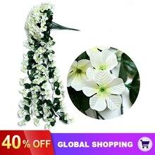 Orchid-Basket Flower Home-Decoration Fake Vine Hanging-Hanging Balcony Living-Room Violet