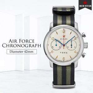 Image 2 - RED STAR 42mm Mens Chronograph Watches ST1901 Movement with Gooseneck Device Clock 21 Zuan Men Mechanical Hand Wind Wrist Watch