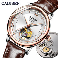 CADISEN New Fashion Women Automatic Mechanical Watch MIYOTA90S5 Ultra thin Skeleton Design Top Brand Luxury Ladies couples Clock