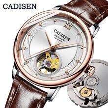 Cadisen 새로운 패션 여성 자동 기계식 시계 miyota90s5 울트라 얇은 해골 디자인 톱 브랜드 럭셔리 숙녀 커플 시계