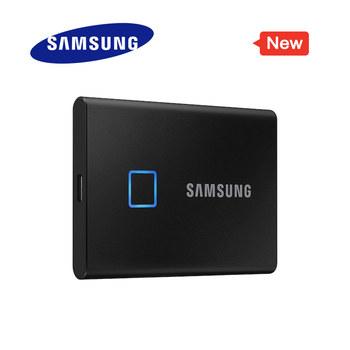 Samsung T7 Touch przenośny dysk SSD 500GB 1TB 2TB USB3 2 rozpoznawanie linii papilarnych odblokuj interfejs type-c dysk półprzewodnikowy NVMe tanie i dobre opinie KR (pochodzenie) 2 5 USB 3 2 Gen 2 Zewnętrzny Pulpit Laptop Serwer T7 Touch USB3 2 Gen2 Mobile Solid State Drive 500GB 1TB 2TB