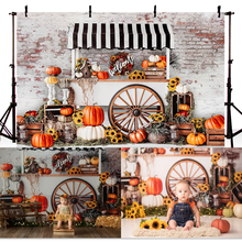 Halloween Photography Background Pumpkin Store Kids Children Party Backdrop Decoration Props Banner For Photo Studio