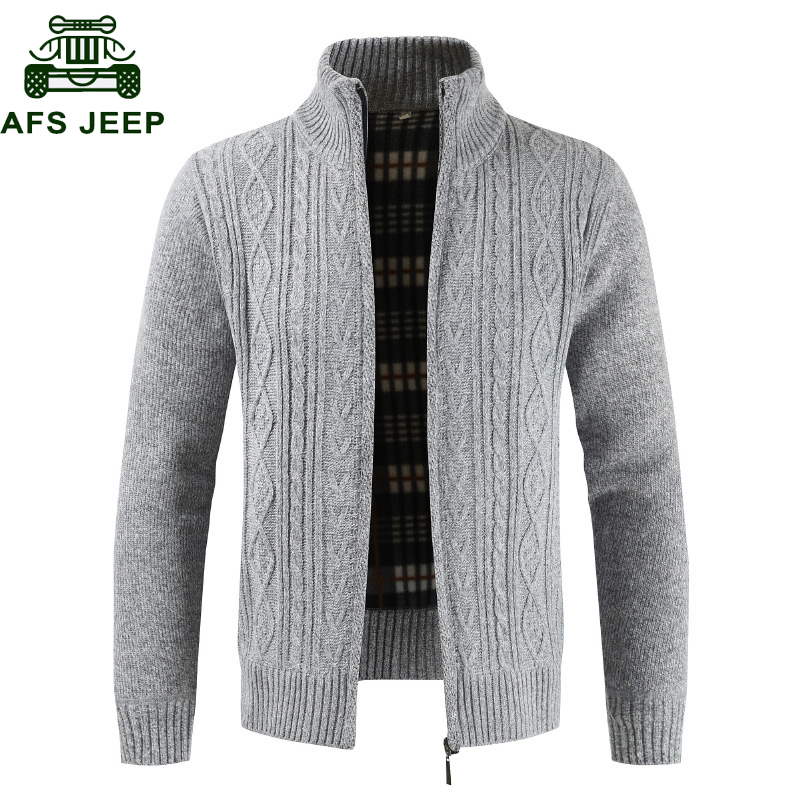 Winter Thick Warm Cardigan Sweater Men Casual Slim Fit  Sweatercoat Male Knit Zipper Autumn Sweaters For Men 2019 Pull Homme