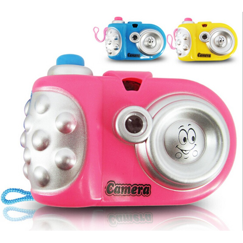 Baby Kids Projection Camera Toy Fun LED Light Projection Animal Cartoon Pattern Educational Learning Toys  Random Colors