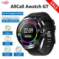 Оригинальные Водонепроницаемые Смарт-часы Allcall Awatch GT 4G, 3 ГБ, 32 ГБ, 1260 мА/ч, аккумулятор, 1,6 дюйма, двойная камера, для распознавания лица, Смарт-...