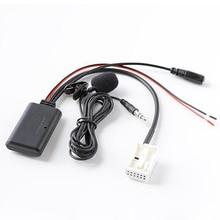 Biurlink 10Pcs 150CM RD4 Radio Bluetooth AUX Cable Phone Call Handsfree MIC Musi