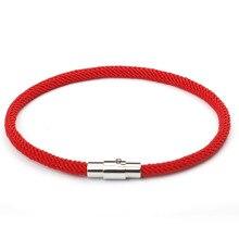 New Sale Red Thread Bracelet Kabbalah Women Men Silver Color Magnetic Buckle Charm Girls Gift Jewellery Wholesale Pulsera Roja