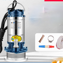 Submersible pump 220V household small stainless steel pump/high lift agricultural irrigation/sewage pump dung mud