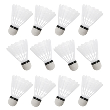 12Pcs White Badminton Plastic Shuttlecocks Indoor Outdoor Gym Sports Accessories