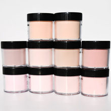 1 topf Helle Rosa Nude Acryl Pulver Glitter Nail art 10 Farben Nagel 1 Unzen (28g) maniküre Schönheit Zubehör Acryl Pulver Tr #040