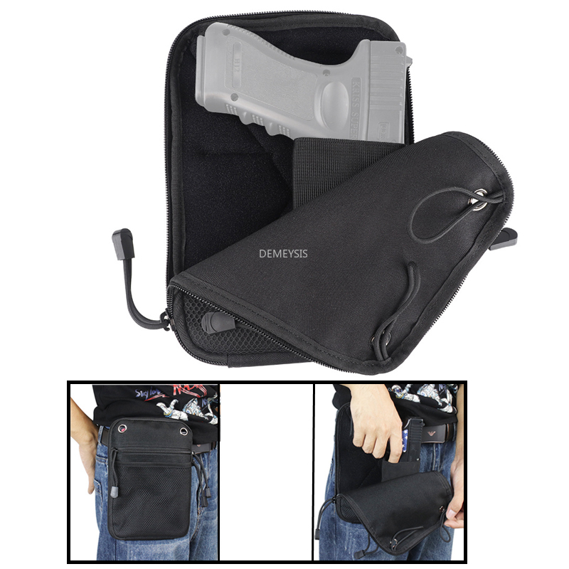 Tactical Pistols Bag Portable Hunting Shooting Gun Waist Pack Pouch Case Military Airsoft Paintball Belt Gun Holster Pouches
