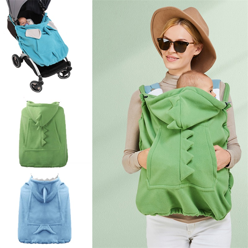 Baby Carrier Cover Hooded Stretchy Cloak Multi-functional Baby Cartoon Cloak Windproof Newborn Thicken Warm Stroller Cover