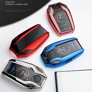 Image 3 - TPU Caso Display LED Totalmente Chave Do Carro Chave do Caso Da Tampa para BMW 5 7 série G11 G12 G30 G31 G32 i8 I12 I15 G01 X3 G02 X4 G05 X5 G07 X7