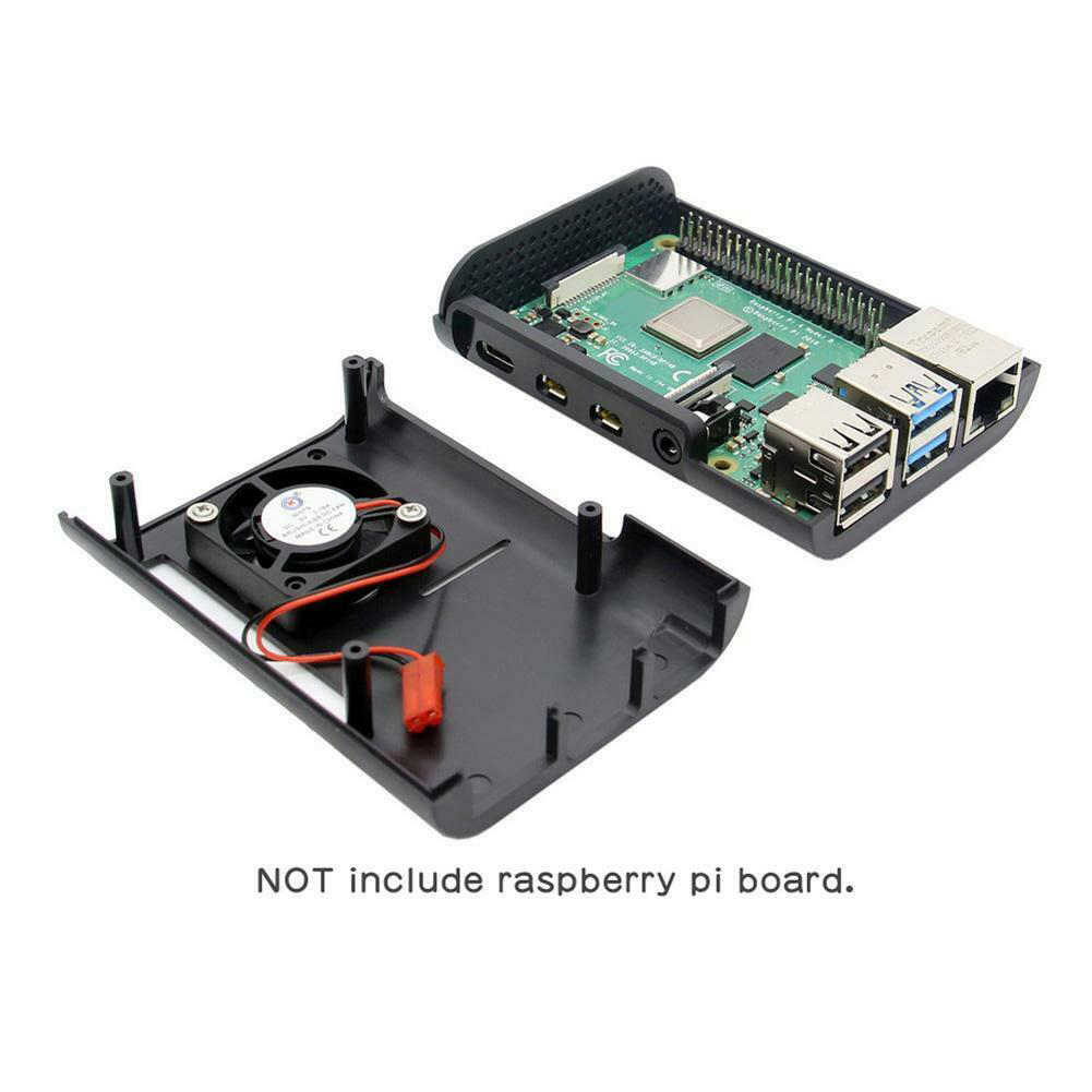 Крышка корпуса Универсальный ABS ударопрочный поддержка охлаждающая полка вентиляторов прочный защитный чехол для Raspberry Pi 4 Модель B