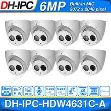 Atacado dh 6mp câmera ip IPC HDW4631C A atualizar de IPC HDW4431C A poe mini dome cam embutido mic cctv câmera de metal 8 pçs/lote