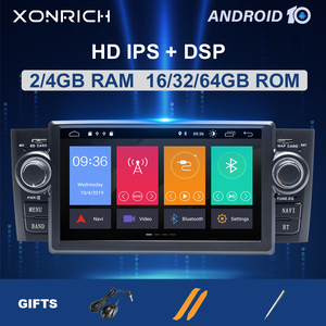 4GB IPS DSP autoradio1 din Android 10 Car Stereo multimedia Player For Fiat Grande Punto Linea 2007-2012 GPS NavigationDVD 8Core