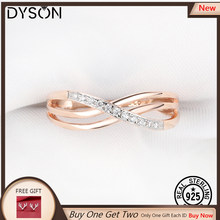 925 Sterling Sliver Ring For Women Rose Gold Plating Crystal Cubic Zirconia Micro Pave Anniversary Gifts Delicate Fine Jewelry