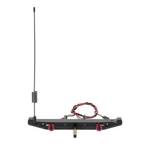 Металлический задний бампер со светодиодсветильник антенной, хвостовой крючок для 1:10 RC Crawler Car TRAXXAS TRX4 Axial SCX10 90046
