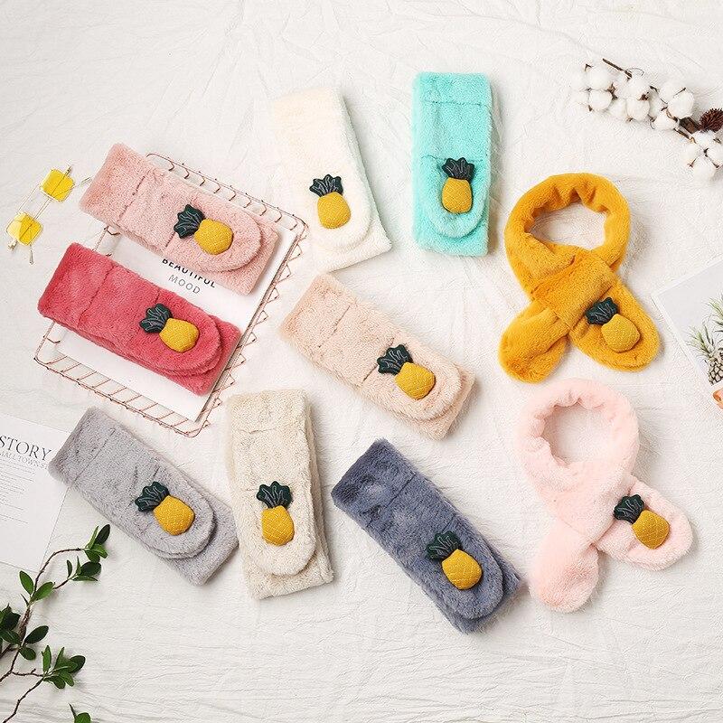 MIARA.L New Baby Outdoor Warm Warm Plush Neck Set Cartoon Pineapple Lovely Scarf For Children