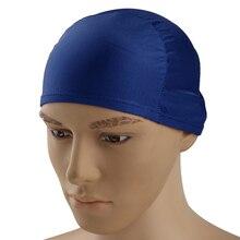 Взрослые Унисекс, женские, мужские кепки s шапочка для плавания бассейн шапочка для плавания длинные волосы синий