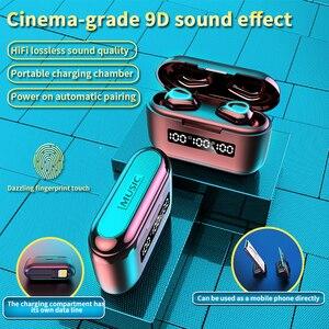 Image 2 - กล่องชาร์จ3500Mah G40 TWSบลูทูธV5.1หูฟังมินิหูฟังไร้สายTouch 9D HifiสเตอริโอกีฬาแบบDual MicชุดหูฟังBass